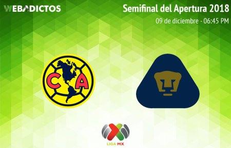 América vs Pumas, Semifinal del Apertura 2018 ¡En vivo por internet!