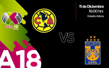 América vs Tigres, Final Femenil A2018 ¡En vivo por internet!