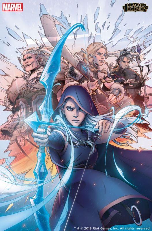 Ya es posible descargar la primera edición del cómic de Marvel y Riot Games - ashe-matriarca-527x800