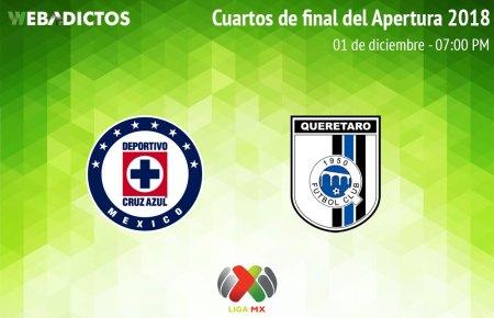 Cruz Azul vs Querétaro, Liguilla del AP2018 ¡En vivo por internet!   vuelta