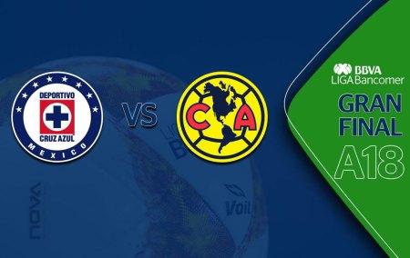 Horarios de la Final América vs Cruz Azul en el Apertura 2018