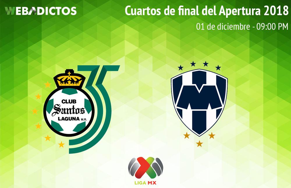 Santos vs Monterrey, Liguilla del Apertura 2018 ¡En vivo por internet! - santos-vs-monterrey-liguilla-apertura-2018