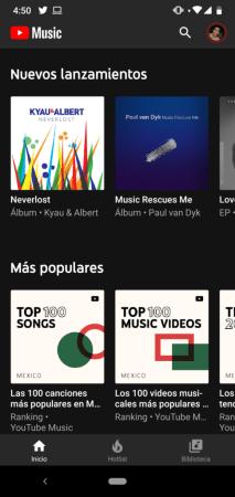 YouTube Music presenta listas de canciones populares globales y locales - screenshot_20181213-165041