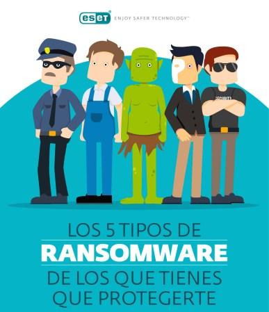 Los cinco tipos de ransomware que más afectan a los usuarios
