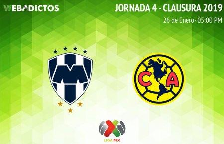 Monterrey vs América, Jornada 4 del C2019 ¡En vivo por internet!