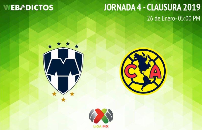 Monterrey vs América, Jornada 4 del C2019 ¡En vivo por internet! - monterrey-vs-america-clausura-2019