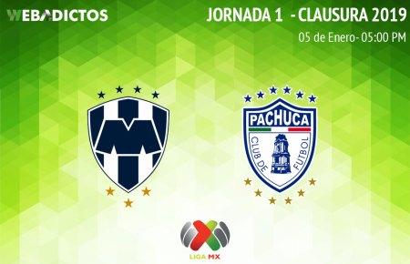 Monterrey vs Pachuca, J1 del Clausura 2019 ¡En vivo por internet!