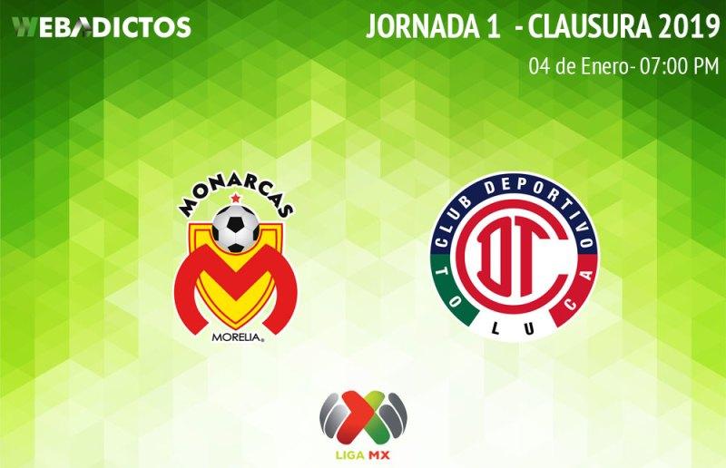 Morelia vs Toluca, J1 del Clausura 2019 ¡En vivo por internet! - morelia-vs-toluca-clausura-2019