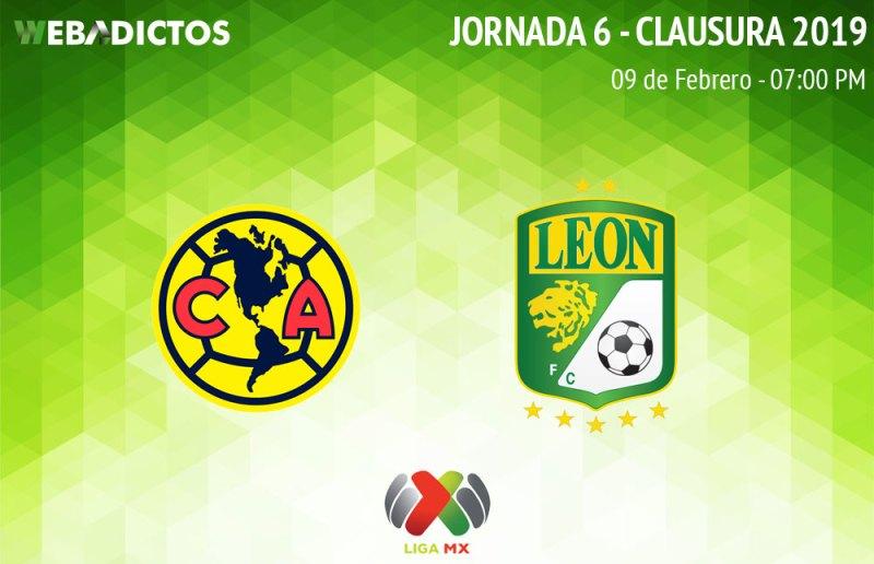 América vs León, Jornada 6 del C2019 ¡En vivo por internet! - america-vs-leon-clausura-2019