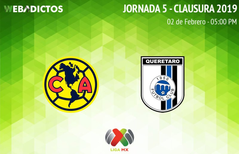 América vs Querétaro, J5 del Clausura 2019 ¡Ver en vivo por internet! - america-vs-queretaro-clausura-2019