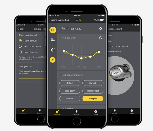 Jabra lanza el primer headset intra-auricular inalámbrico diseñado para uso profesional - aplicacion-jabra-sound