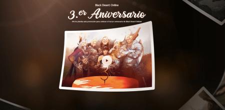 Tercer aniversario de Black Desert Online ¡conoce como ser parte de la celebración!
