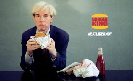 Burger King trae de vuelta a Andy Warhol en un comercial para el Super Bowl LIII