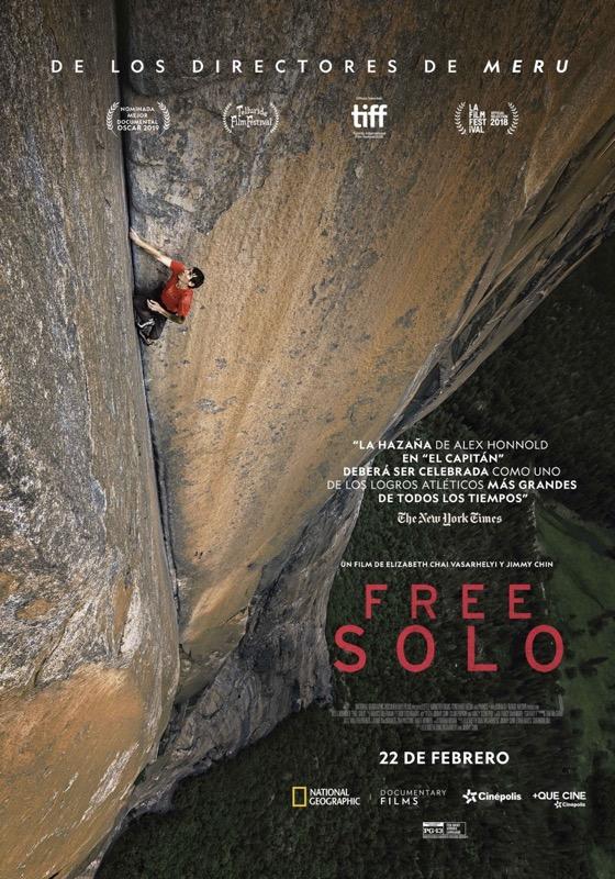 Cinépolis presenta el documental nominado al Oscar: Free Solo - free-solo-cinepolis