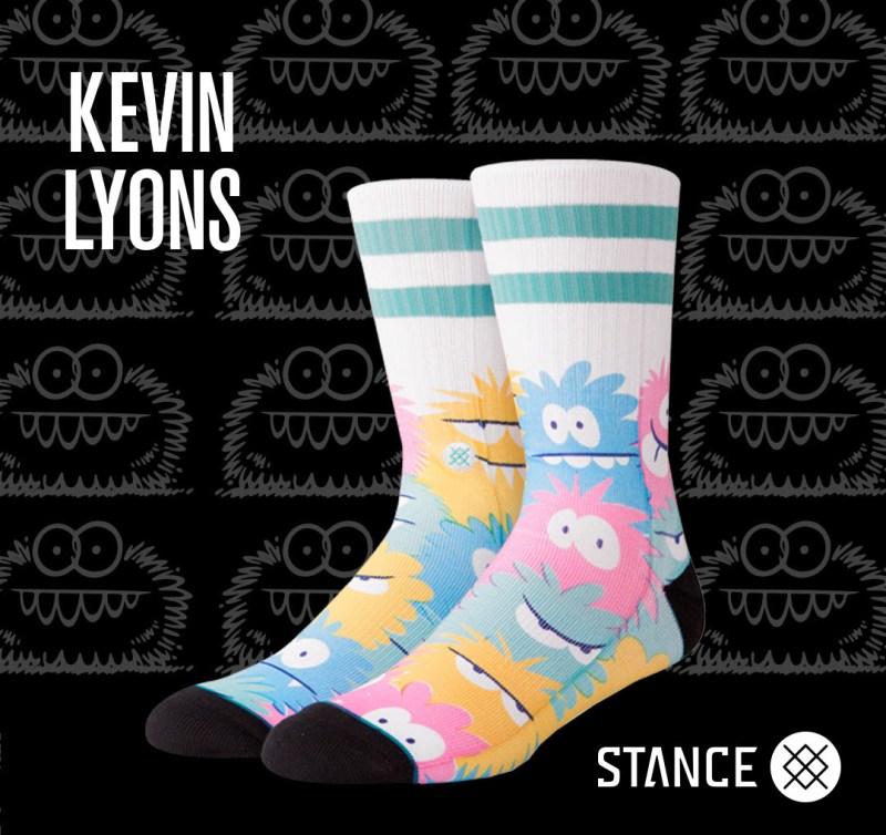 Kevin Lyons y Stance lanzan colección de calcetas de sus emblemáticos personajes MONSTER - kevin-lyons-y-stance_4-800x754