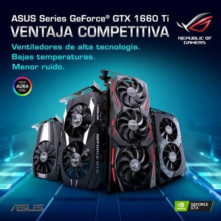 ASUS anuncia sus tarjetas gráficas ROG Strix, ASUS dual, TUF Gaming, y Phoenix GeForce GTX 1660 Ti