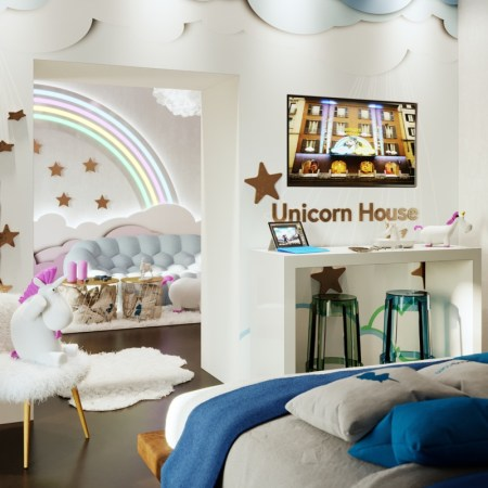 Unicorn House, la casa temática de unicornios disponible exclusivamente en Booking.com