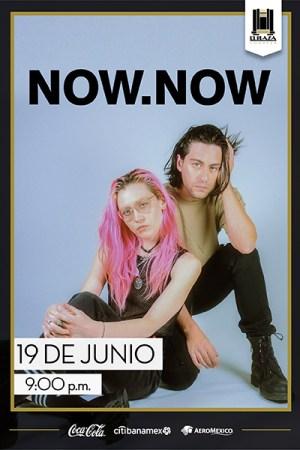 La agrupación de indie rock: Now, Now en El Plaza Condesa