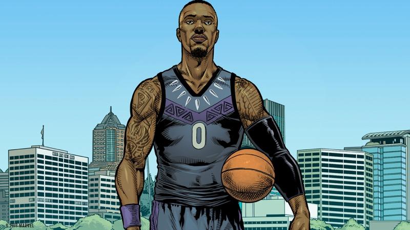 adidas y Marvel celebran a los héroes más poderosos del baloncesto - adidas_marvel_damian_lillard_twitter_02