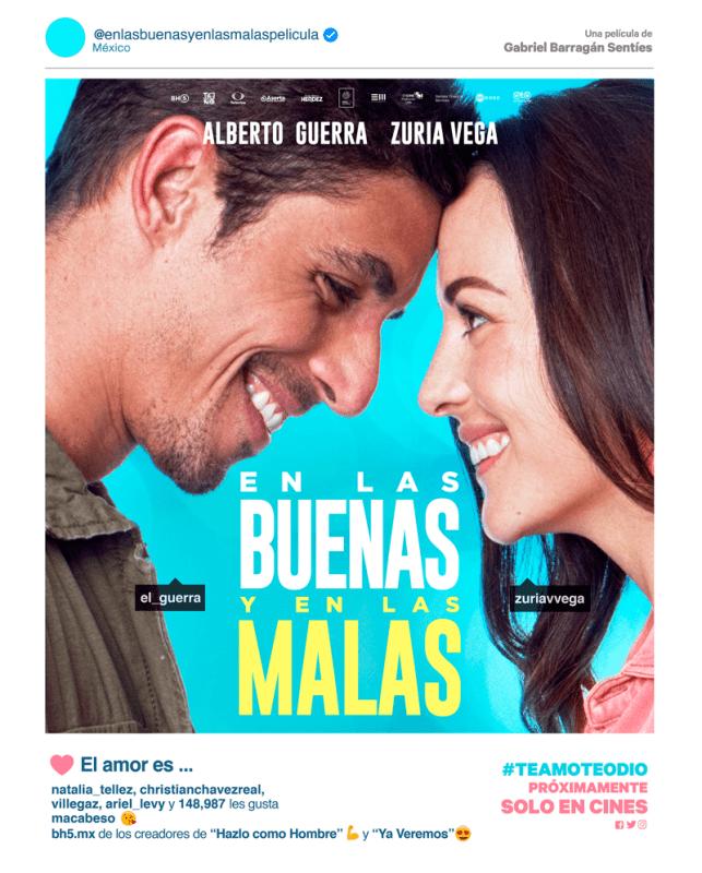 En las buenas y en las malas se mantiene en el Top Ten de cine en México