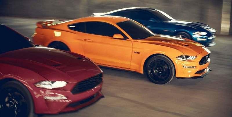 Ford México inicia los festejos por el 55 aniversario del Mustang - ford-mustang-2019-auto-deportivo-leyenda-muscle-exterior-luces-frente-naranja-led-800x403