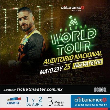 Nueva fecha de Maluma en el Auditorio Nacional