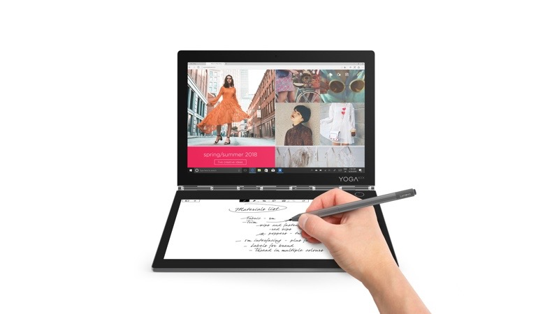 Lenovo presenta el Yoga Book C930 equipada con doble pantalla y Yoga S940 el primer portátil del mundo con vidrio 3D - 09_yb_c930_hero_create_mode