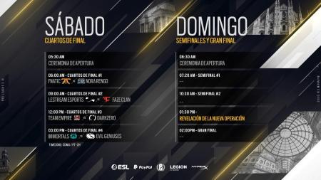 Final de la novena temporada de la Pro League de Rainbow Six Siege del 18 al 19 de mayo desde Milán
