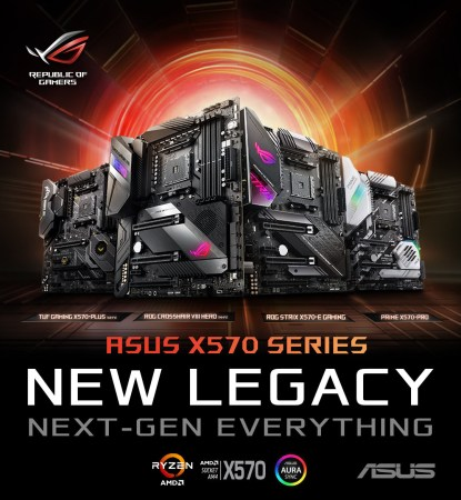 ASUS lanza sus Tarjetas Madre Serie X570 para AMD