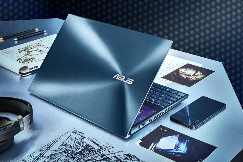 ASUS lanza Zenbook Pro Duo que incorpora ScreenPad Plus,una pantalla táctil secundaria - zenbook-pro-duo-ux581_celestial-blue-design-800x534