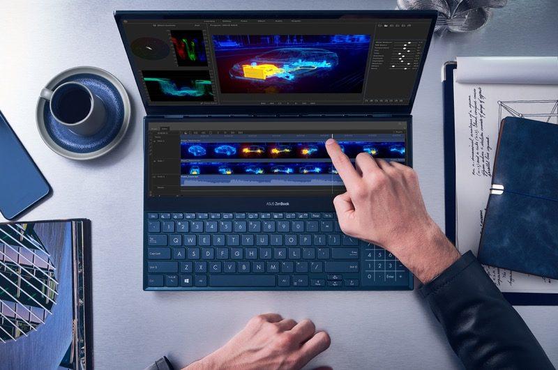 ASUS lanza Zenbook Pro Duo que incorpora ScreenPad Plus,una pantalla táctil secundaria - zenbook-pro-duo_ux581_video-editing-800x531
