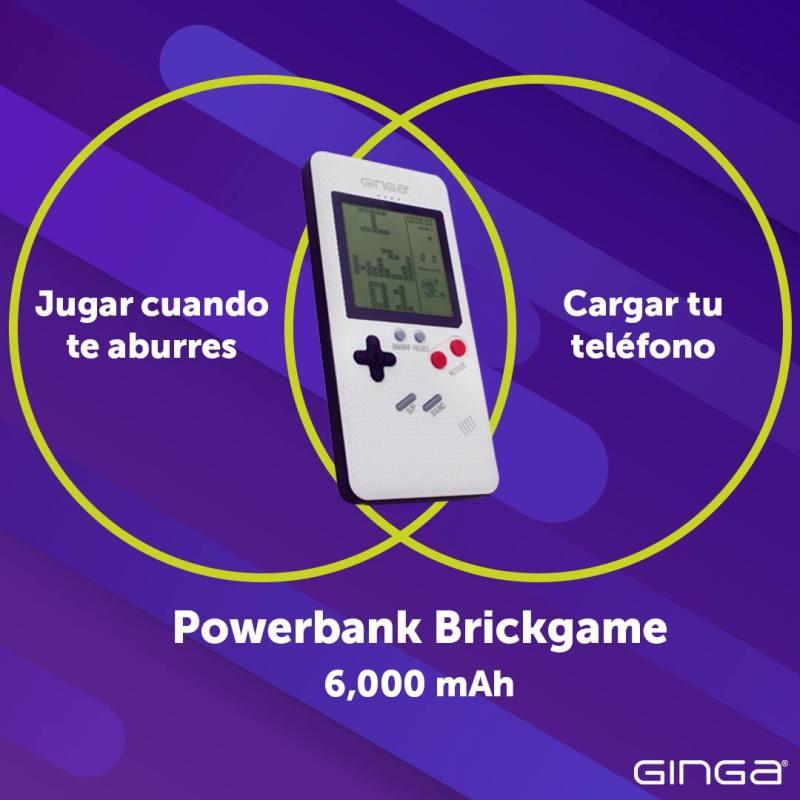 ¡Ahora al mismo tiempo con la Powerbank Brickgame de Ginga! Juega y recarga tu Smartphone - powerbank-brickgame