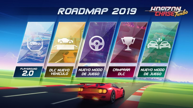 Llega Summer Vibes, el primer DLC de Horizon Chase Turbo - summer-vibes-roadmap