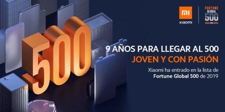 Xiaomi en la lista Fortune Global 500 por primera vez