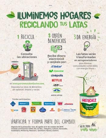 «Recicla la lata» iniciativa que te invita a reciclar y obtener beneficios en sus máquinas recolectoras