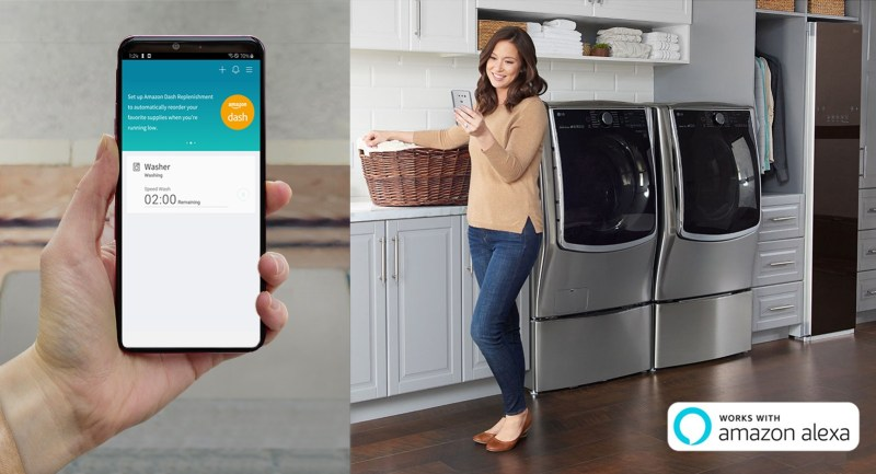 LG presenta su línea ThinQ con Amazon Dash para el mercado europeo en IFA 2019 - lg-thinq-app-amazon-dash-replenishment-800x433