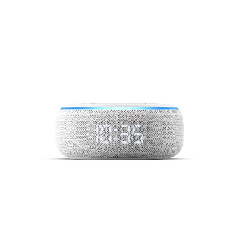 Amazon lanza nueva línea de dispositivos Echo ¡conoce sus características y precios! - amazon-echo-dot-reloj