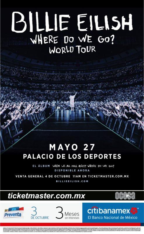 Billie Eilish anuncia concierto en la Ciudad de México y Guadalajara - billie-eilish-493x800