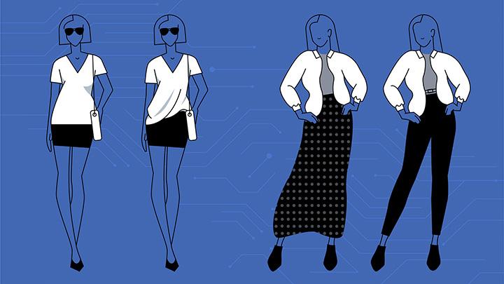 Fashion++, sistema de Inteligencia Artifical creado por Facebook que sugiere ajustes en la ropa para lucir mejor - facebook-fashion-example
