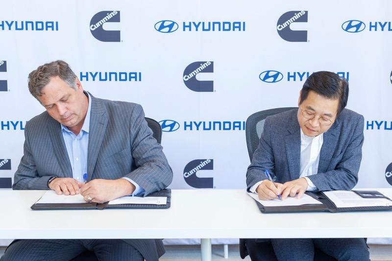 Hyundai y Cummins colaborarán en tecnología de pila de combustible de hidrógeno - hyundai-cummins-mou_2