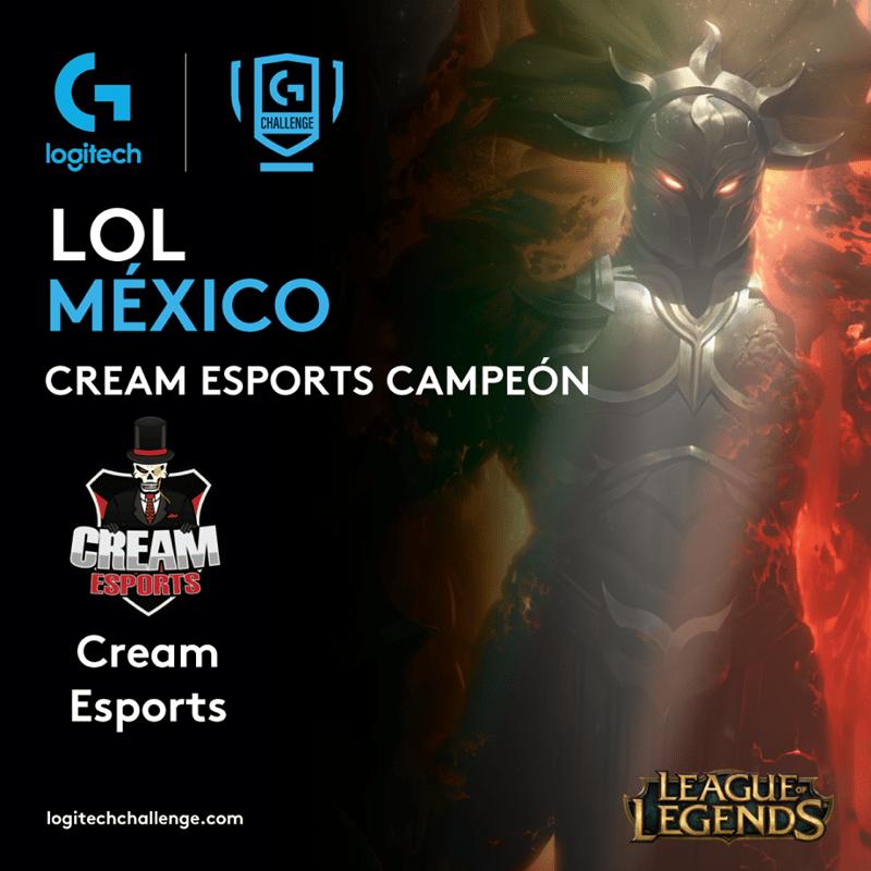 Conoce los equipos mexicanos que irán a la final internacional del torneo de esports Logitech G Challenge - logitech-g-challenge-2019_lol-cream-esports