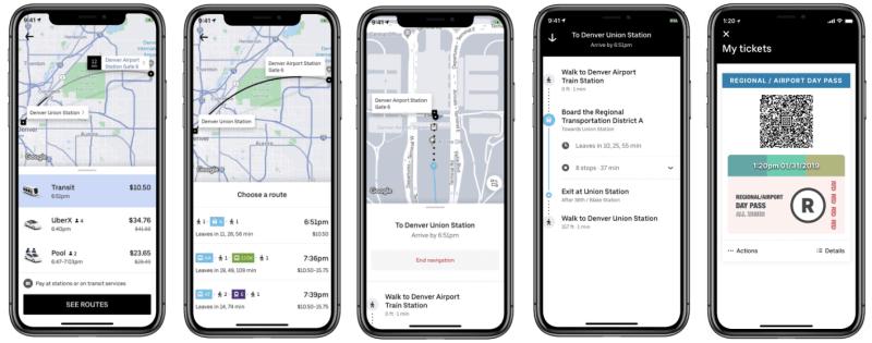 Uber se renueva: todos sus servicios integrados en una sola aplicación - uber-transit