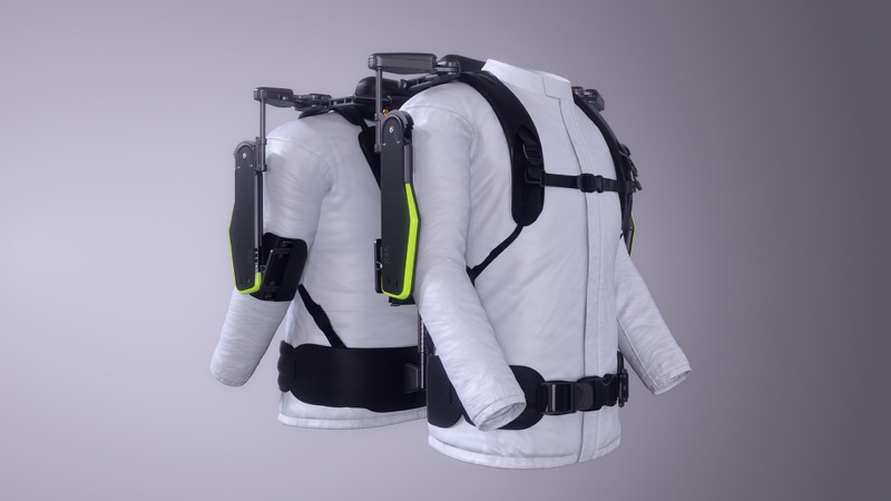Hyundai desarrolla exoesqueleto, un chaleco portable para auxiliar la carga en el trabajo - vest-exoesqueleto-vex-hyundai