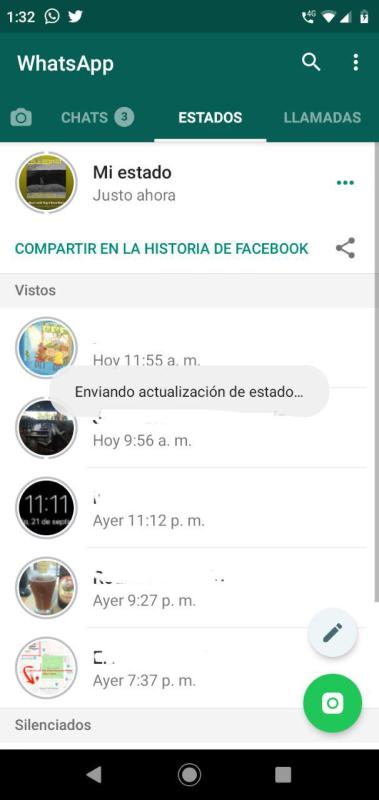 WhatsApp ya permite compartir estados como historias de Facebook - whatsapp-share-to-facebook