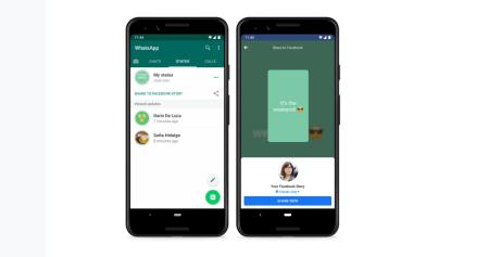 WhatsApp ya permite compartir estados como historias de Facebook