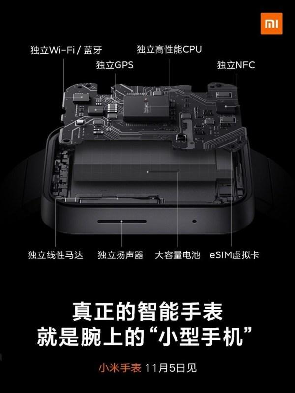 Con el Mi Watch, Xiaomi se pone seria en el terreno de los smartwatch - mi-watch-specs