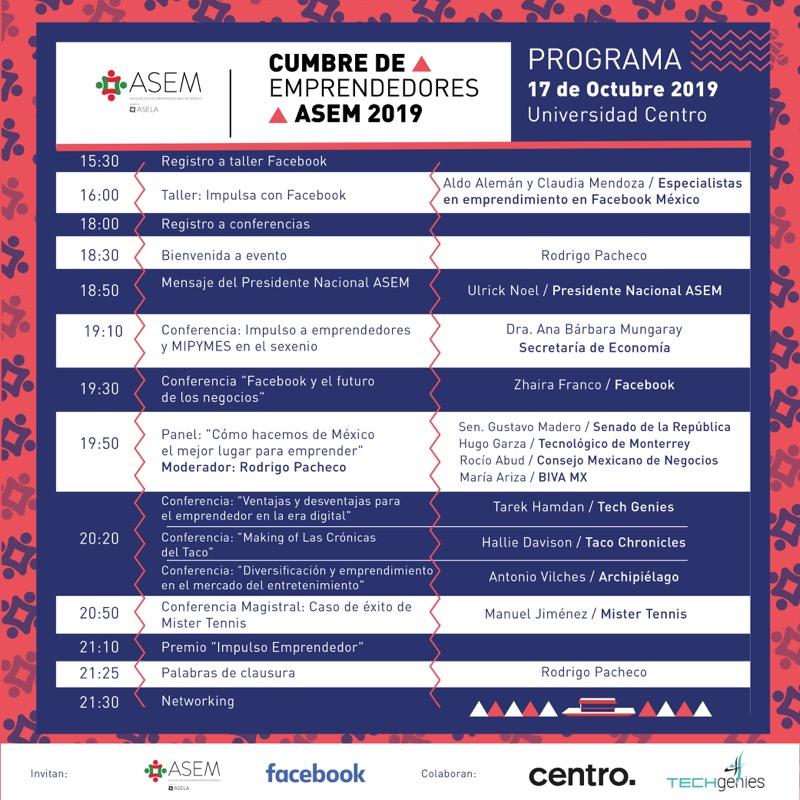 Llega la Segunda Cumbre de Emprendedores ASEM - programa_segunda-cumbre-de-emprendedores-asem