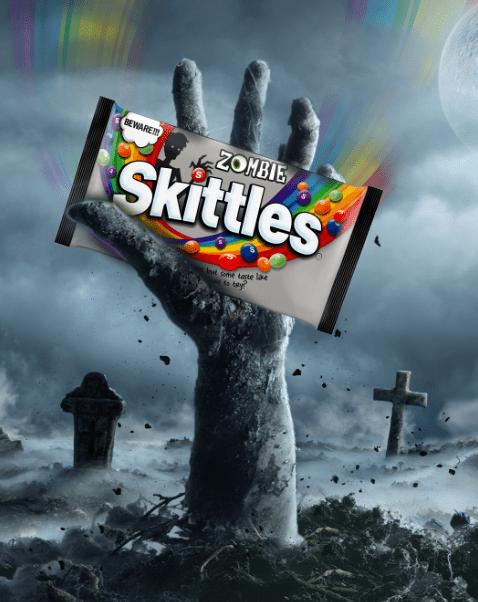 """SKITTLES lanza edición especial llamada """"SKITTLES Zombie"""" - skittles-zombie"""