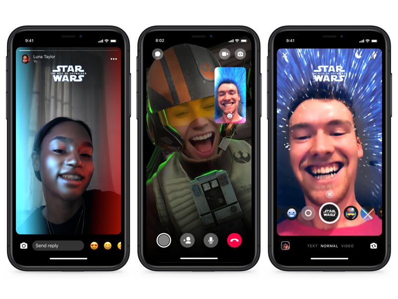 Messenger y Disney lanzan temas de chat y efectos de realidad aumentada de Star Wars - star-wars-ar-effects