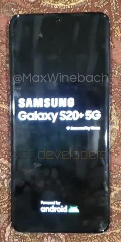 Este es el Samsung Galaxy S20+, se filtran sus primeras fotos - galaxy-s20-boot-xda